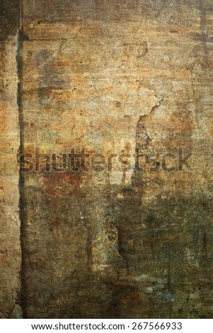 Old, damaged sand stone grunge wall background texture.