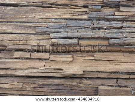 Old damaged wood texture  - stock photo