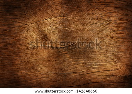 Old dark brown wooden background or texture - stock photo