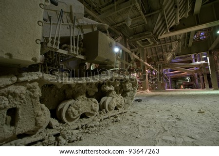 old dark dirty factory - stock photo