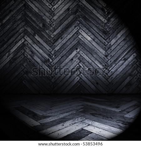 old dark room - stock photo