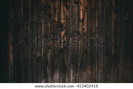 old dark wood wall use for background - stock photo