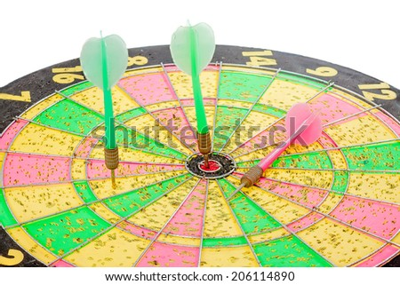 Old dart with full of trace from darting - stock photo