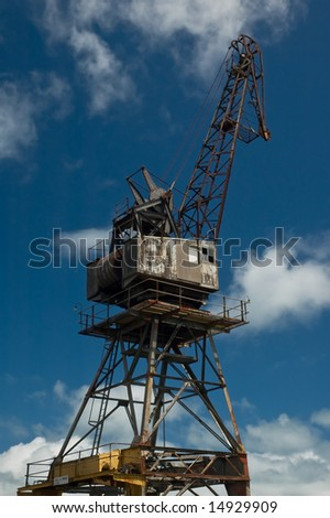 Old demolition crane