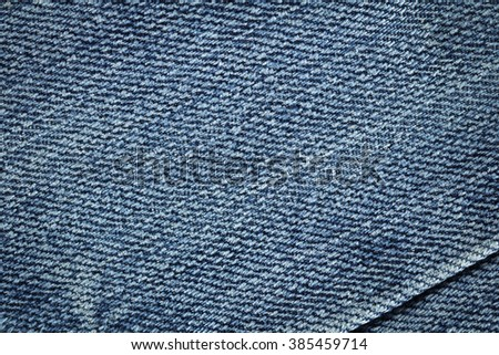 Old denim fabric background texture.