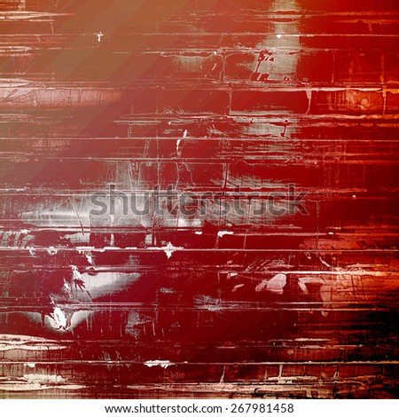 Old designed texture as abstract grunge background. With different color patterns: brown; gray; red (orange) - stock photo