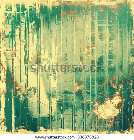 Old designed texture as abstract grunge background. With different color patterns: yellow (beige); brown; green - stock photo