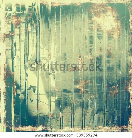 Old designed texture as abstract grunge background. With different color patterns: yellow (beige); brown; cyan; green - stock photo