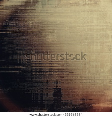 Old designed texture as abstract grunge background. With different color patterns: yellow (beige); brown; gray; black - stock photo