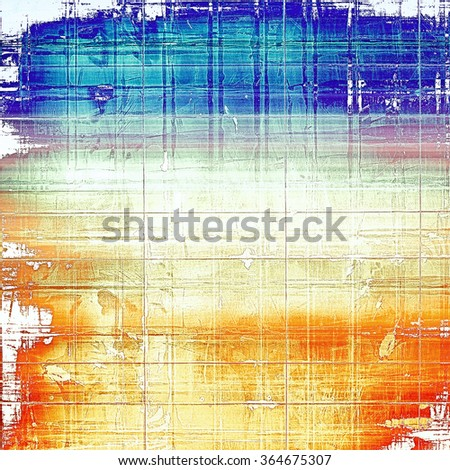 Old designed texture as abstract grunge background. With different color patterns: yellow (beige); blue; pink; white; red (orange)