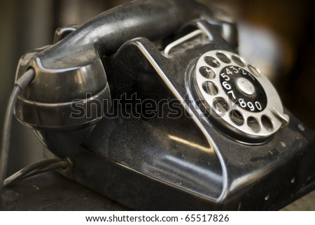Old Dial-up Telephone - stock photo
