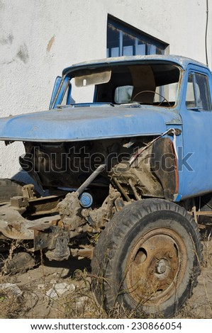 Old dilapidated truck