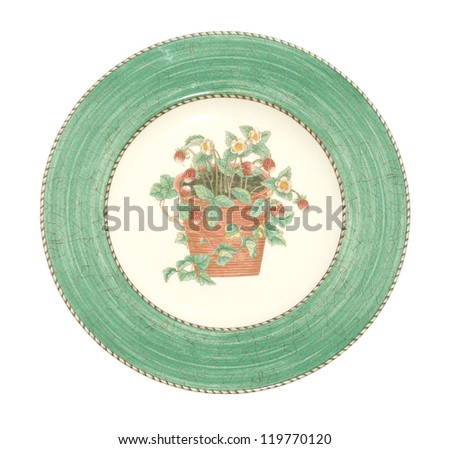 Old dinner plate - stock photo