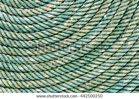 Old dirty big rope texture closeup,background use.