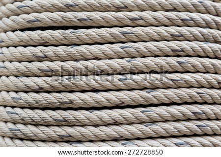 Old Dirty Nylon white Rough rope background - stock photo