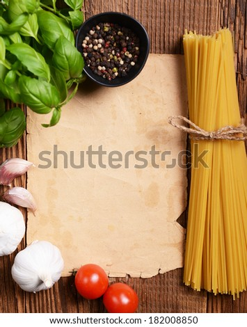 Old dirty paper ready for your recipes - stock photo