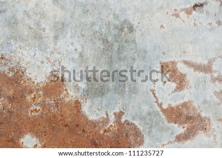 Old,dirty, rusty metal plate