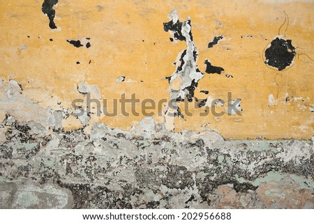 old dirty texture, yellow wall background