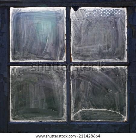 Old dirty window  - stock photo