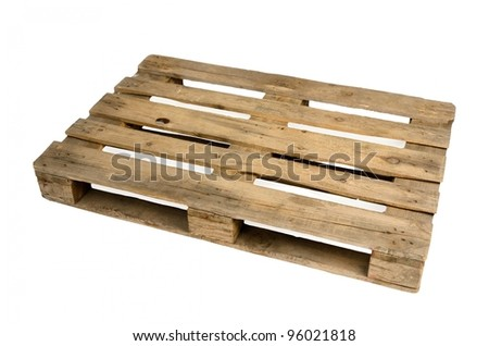 Old dirty wooden pallet - stock photo