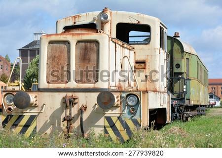 old disused locomotive - stock photo