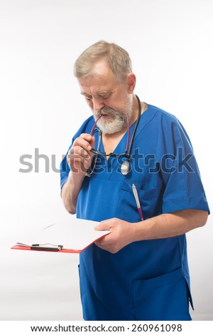 old doctor - stock photo