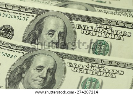old dollar bills abstract background