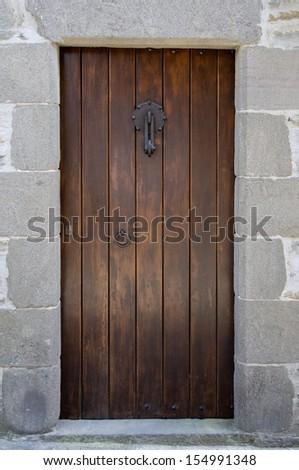 Old door.  - stock photo