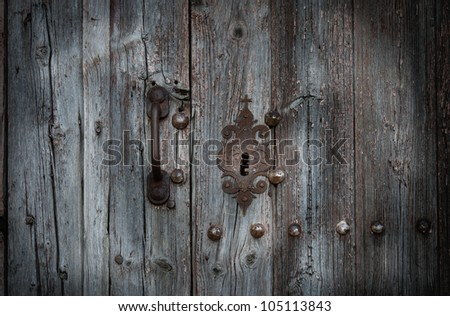 Old door and keyhole in romanesque chapel (Spain) & Old Keyhole Stock Images Royalty-Free Images u0026 Vectors | Shutterstock pezcame.com
