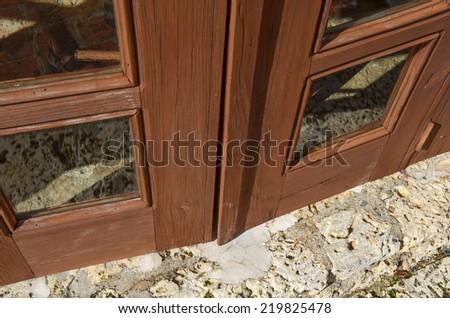 Old door fragment . - stock photo