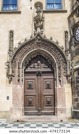 Old door in Prague