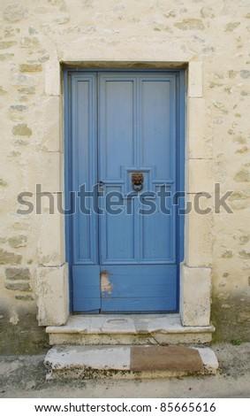 old door in Provence - stock photo