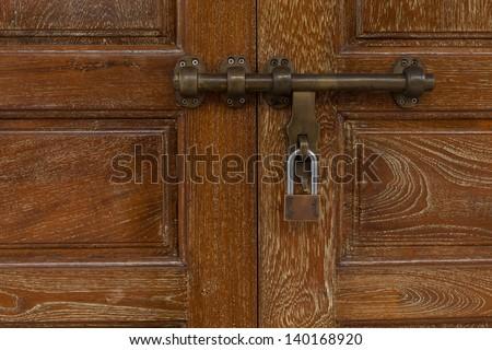 Old Door in Thailand - stock photo