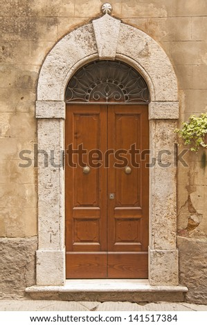 old door in Tuscany,Italy