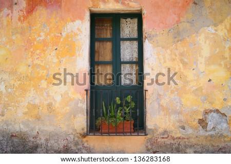 Old door in Uruguay Latin america - stock photo