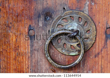 old door metal entrance knocker