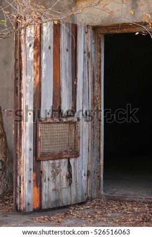 Old door on military bunker & Old Door On Military Bunker Stock Photo u0026 Image (Royalty-Free ...