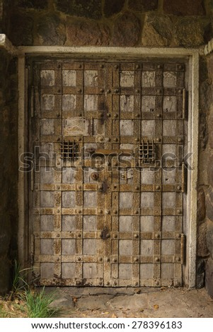 Old door with lock