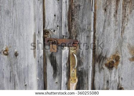 antique door locks. old door with lock antique locks