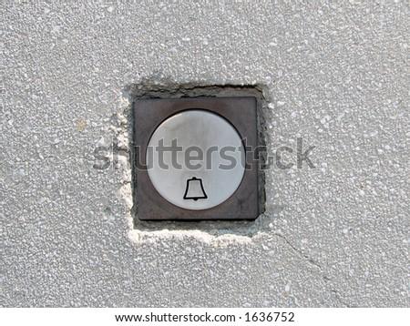 Old doorbell - stock photo
