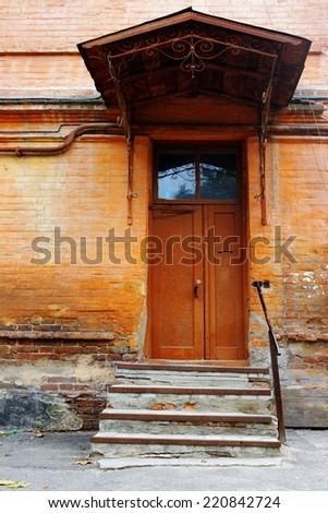 old doors in the house of the old-time - stock photo