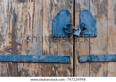 old doors with a black lock & Old Doors Stock Images Royalty-Free Images u0026 Vectors | Shutterstock pezcame.com
