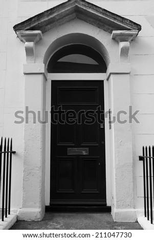 Old Doorway Background - stock photo