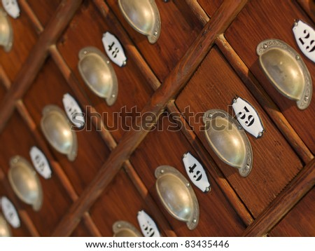 Old drawer cabinet - stock photo