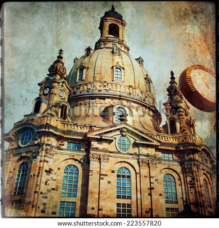 old Dresden - vintage films series - stock photo
