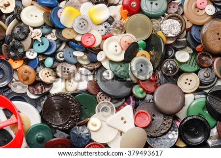 Old dress buttons