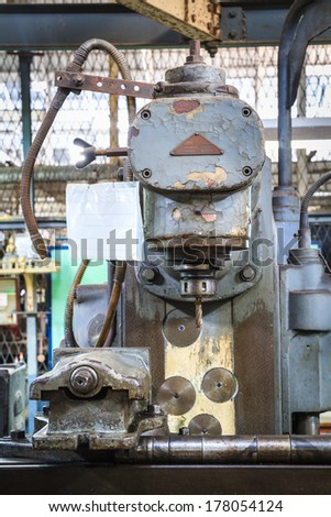 Old drilling machine - stock photo