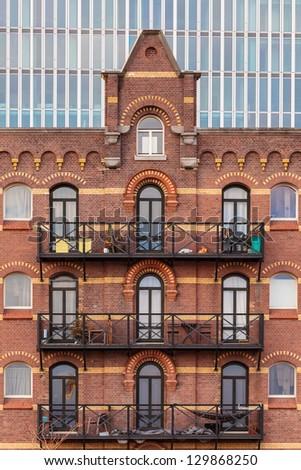 A Brick Apartment Building Rotterdam Stock Photos A Brick Apartment Building