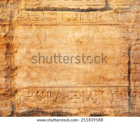 old egypt hieroglyphs with place for text - stock photo