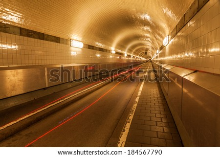 old Elbe Tunnel in Hamburg, Germany